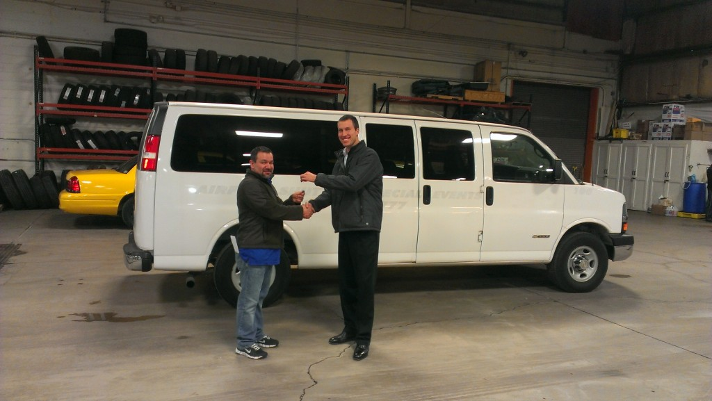 Donated van