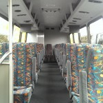33 Passenger Mini Coach Interior