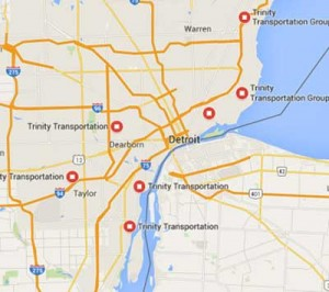 Detroit Bus Transportation Map