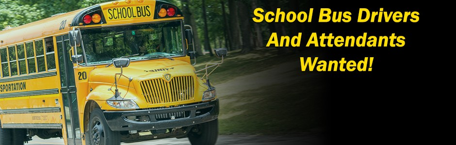 School Bus Drivers wanted website graphic main page