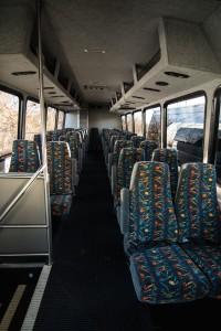 Mini coach cloth seats